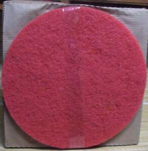 3m Red Buffer Floor Pads 17 For Floor Scrub Polish Machine Case Of 5 New