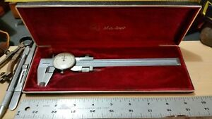 Vintage Rare Mitutoyo Dial Caliper 504 263 With Case Made In Japan 0 6 Nice