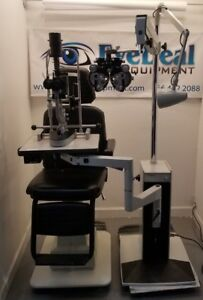 Reliance Lane Package Chair Stand Phoroptor Slit Lamp W tono Acuity Chart