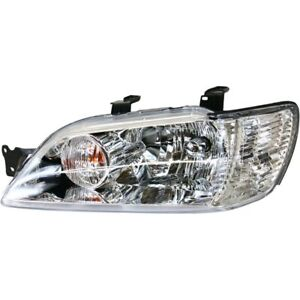 Headlight For 2002 2003 Mitsubishi Lancer Driver Side W Bulb