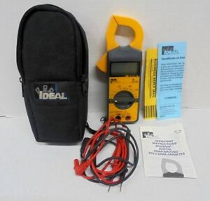 Ideal 61 760 Clamp Style Digital Snap Around Volt Ohm Ammeter And Case Tested
