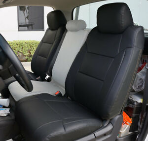 2014 2021 Toyota Tundra Black S leather Custom Made Fit 2 Front Seat Covers