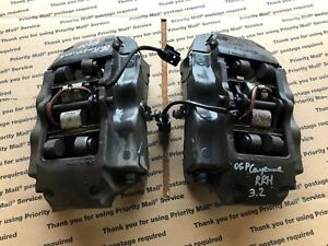 03 06 Porsche Cayenne Rear Left Right Brake Caliper Calipers Pair Set Oem