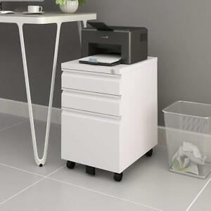 Devaise 3 drawer Mobile File Cabinet With Lock 19 7 Depth Legal letter Size