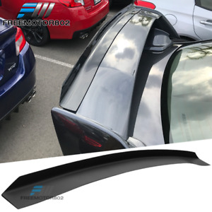Fits 08 14 Subaru Impreza Wrx Sti Sedan Top Gurney Flap Rear Trunk Spoiler Wing