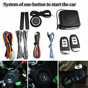Start Push Button Remote Starter Keyless 9pcs Car Suv Alarm System Engine Us Fas