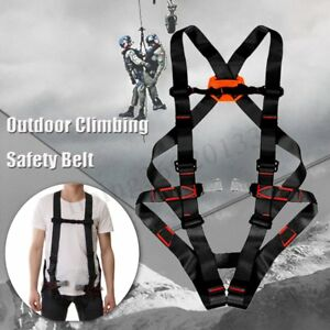 Full Body Safety Rock Climbing Arborist Tree Rappelling Harness Seat Belt Protec