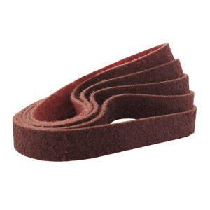1 1 2 X 30 Inch Surface Conditioning Pipe Sanding Belts Red medium 5 Pack