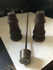 2 Old Antique Feet With Rod Barrister Globe Wernicke Stacking Stack Bookcase