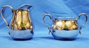Vintage Reed Barton 965 Small Silverplate Creamer Pitcher And Sugar Bowl