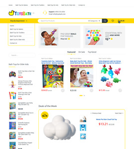 Premium Toy Affiliate Website W Valuable Domain At 1 400 Toysbath com
