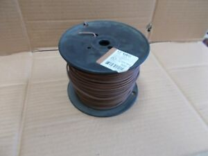 12 Awg Thhn Thwn Electric Wire 500 Spool Stranded Brown