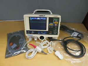 Physio control Lifepak 20 Patient Monitor 3 Leads Ecg Spo2 Aed Pacing 16122
