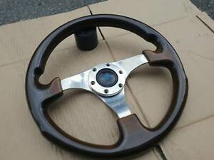 Rare Personal Classic Wood Steering Wheel Toyota Mazda Bmw Fiat Volvo Benz Vw