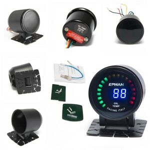2 52mm Digital Oil Temperature Gauge Analog With Sensor And Bracket