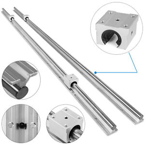 Sbr20 2200mm 2x Linear Rail Set 4x Bearing Block 20mm Grinding Shaft Rod Newest