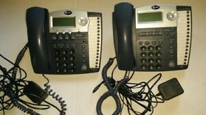 Lot Of 2 At t 945 974 4 line Small Business System Office Phones W Grey Handsets