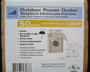 Midwest Outdoor Power Outlet 50amps Surface Mount Factory Wired Ready To Instal