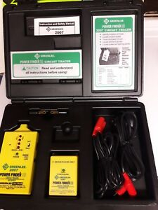 Green Lee 2007 Power Finder closed Circuit Tracer 9 300 V Ac dc Great Tool