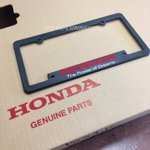 Power Of Dreams License Plate Tag Frame For Honda S2000 Crz Fit Accord