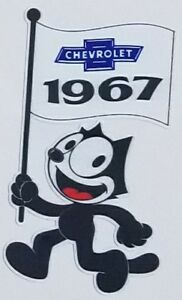 Felix The Cat 1967 Chevrolet Die Cut Decal Chevy Impala Lowrider Hot Rod C10 Usa