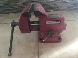 Vintage Wilton 121070 Swivel Bench Vise 4 Jaws Pipe Jaws Made In Usa