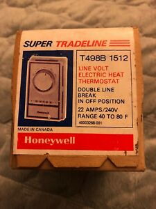 Honeywell T498b1512 Line Voltage Electric Heat Thermostat