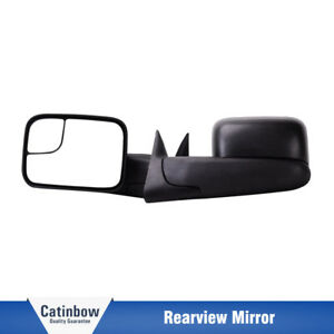 Left Right Flip Up Tow Manual Mirrors For Dodge Ram1500 2500 3500 Pickup 1994 02