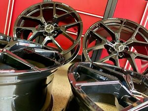 S550 20 Inch Mercedes Black Edt Rims Wheels Set 4 Brand New Fits S 550 S63 Amg