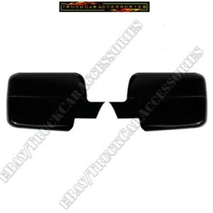 For Ford F150 F 150 2004 2005 2006 2007 2008 Black Full Mirrors Mirror Covers