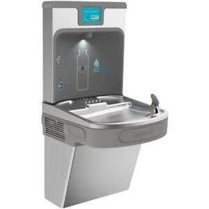Elkay Lzs8wssp Ezh2o Wall Mount Drinking Fountain With Bottle Filler Station