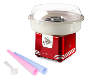Electric Retro Cotton Candy Maker Sugar Free Candy Floss Making Machine Red New