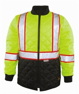 The Hi vis Quilted Jacket By Game Ansi 3 High Visibility Traffic Police Fire