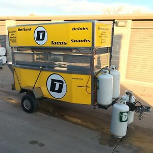 Mobile Food Vending Cart Trailer Stand And Equipment Bundle