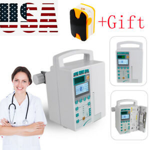 Medical Infusion Pump Iv Fluid Voice Alarm Lcd Monitor Kvo Purge Device gift Us