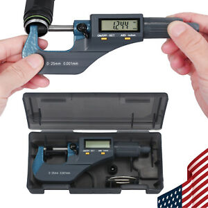 0 1 Digital Electronic Micrometer With Lcd Display Inch metric Measuring Guage