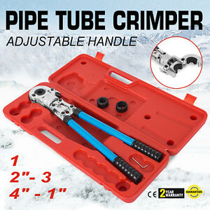 Plumbing Copper Pex Crimper Press Tube Tools With 1 2 3 4 1 Copper Die