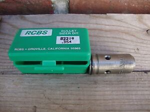 NOS RCBS .354 DIAMETER BULLET SIZER DIE RELOADING NEW OLD STOCK GUNSMITHS ESTATE