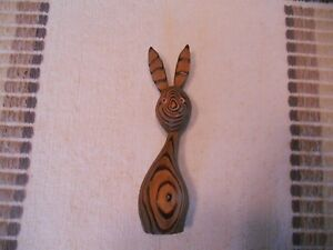 Mid Century Wony Japan Cryptomeria Wood Figurine Rabbit Retro Witco Era Vintage