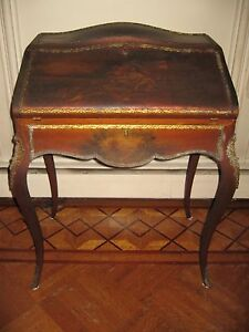 Antique French Louis Xv Lady S Hand Painted Writing Desk