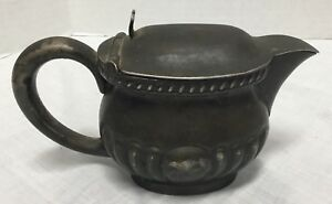 Reed Barton Silver Soldered Navy Officer S Wardrobe Creamer With Hinged Lid
