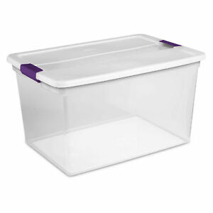 Sterilite 17571706 Clearview Storage Box With Latched Lid 66 Qt 23 5 8 l X