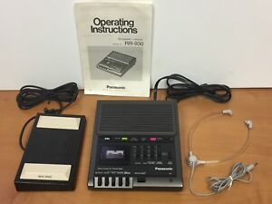 Panasonic Rr0930 Microcassette Transcriber W Footswitch Headset