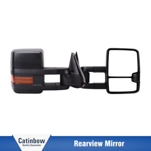 Power Heated Led Signal L r Tow Mirror For Chevrolet Silverado Sierra 03 06 Gmc