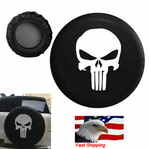 16 Inch Spare Tire Cover Punisher Skull For Jeep Liberty Cherokee Wrangler 95 19