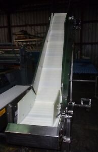 18 Inch Wide Stainless Steel Sanitary Cleated Z Flow Conveyor