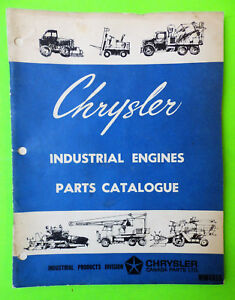 1950 s 1960 s Chrysler Industrial Engine Parts Book Mopar Chryco Wm4815 170 318