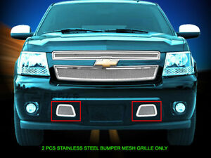 Fedar Wire Mesh Grille Combo For 2007 2014 Chevy Tahoe Avalanche Chevy Suburban