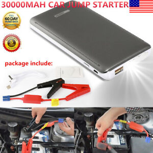 30000mah Car Jump Starter 12v Power Bandk Battery Charger Emergency Rescue Usa