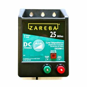 Zareba Energizer Edc25m z 25 mile Battery Operated Low Impedance Electric Fen